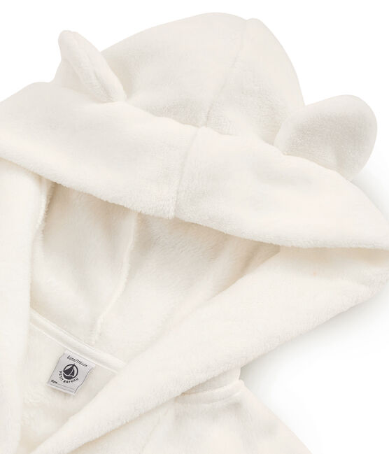 Boys' Fleece Dressing Gown Marshmallow white