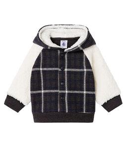 Baby Boys' Checked Knit Sweatshirt with Sheepskin Sherpa