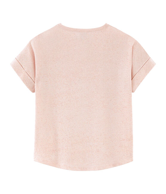Girls' Short-sleeved T-shirt Pearl pink / Copper pink