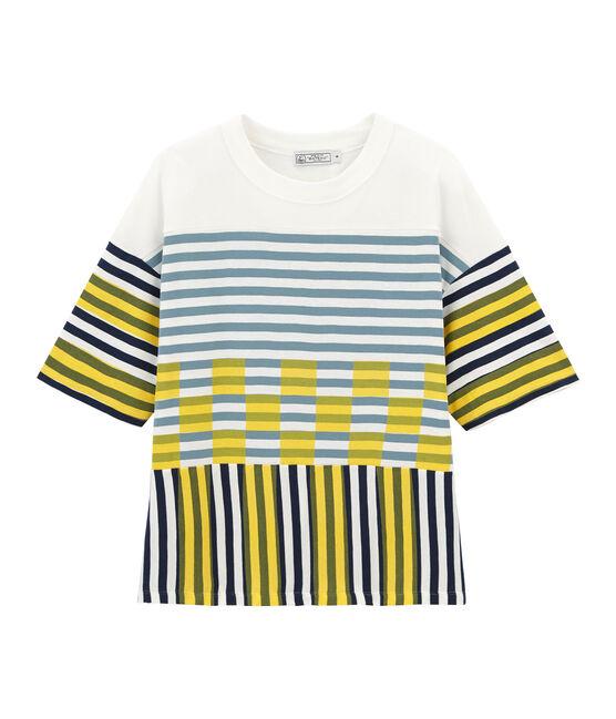 Unisex short-sleeved graphic t-shirt Marshmallow white / Multico white