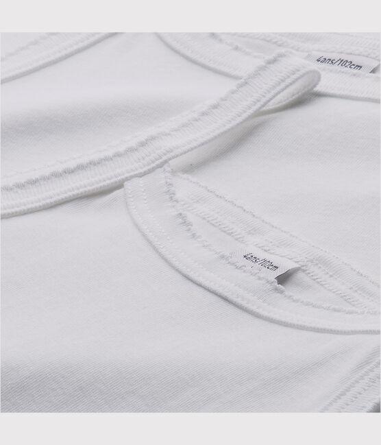 Set of 2 girls' white vests with straps . set