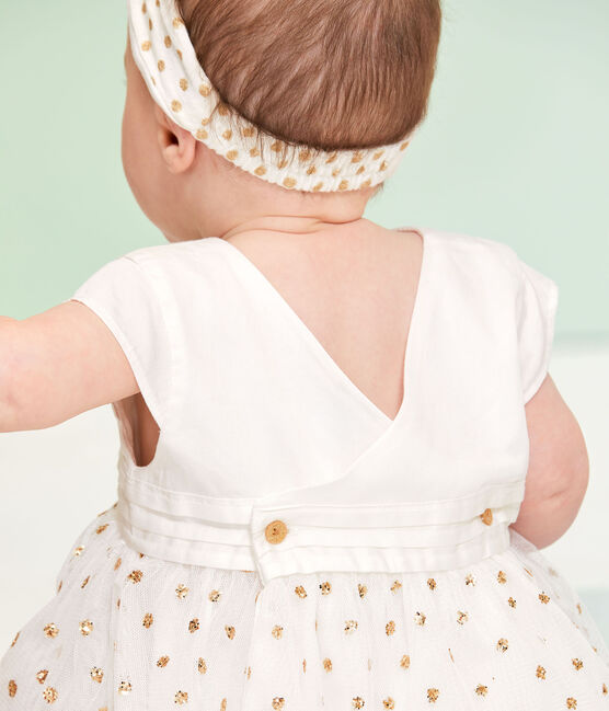 Baby Girls' Dress Marshmallow white / Or yellow