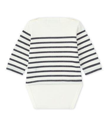 Long-sleeved sailor's bodysuit baby girl