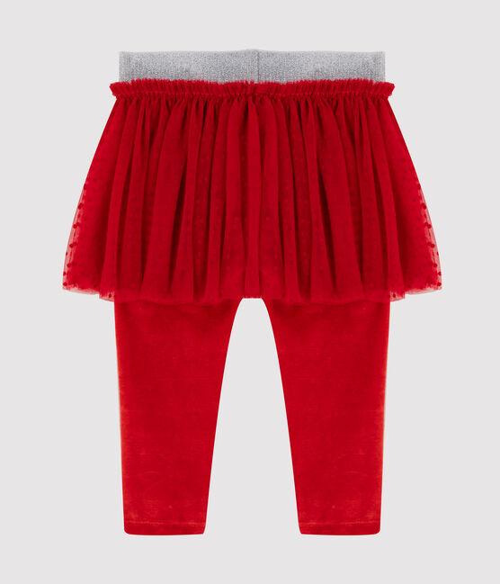 Baby's leggings with tulle skirt Terkuit red