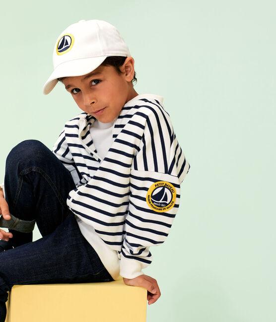 Twill cap for boys Marshmallow white
