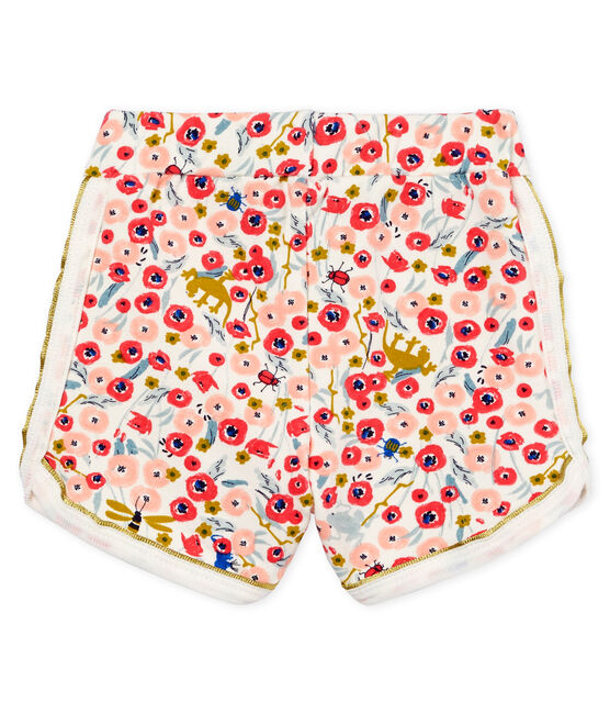 Baby girls' printed shorts Marshmallow white / Multico white