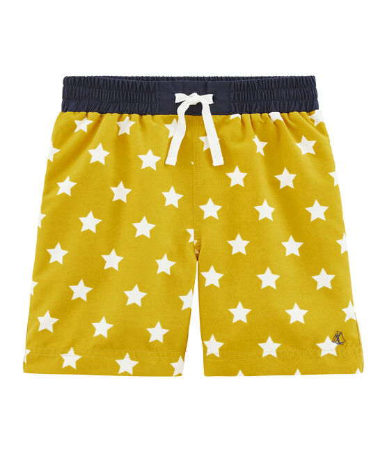 Boys' Beach Shorts Bamboo yellow / Marshmallow white