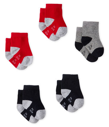 Baby Boys' Basic Socks - 5-Piece Set