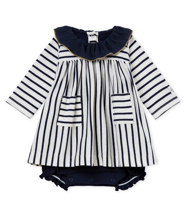 930e4ae68907 Baby girls  striped dress bodysuit