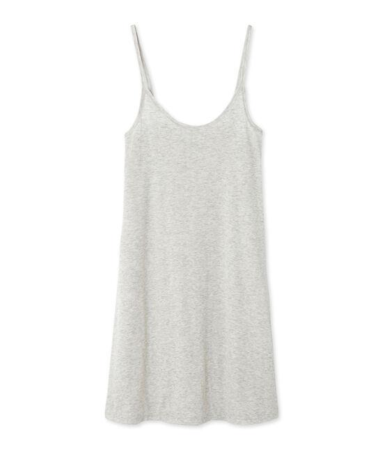 Chemise à bretelles femme en coton léger Beluga Chine grey