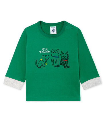 Baby Boys' Long-Sleeved T-Shirt Ecology green