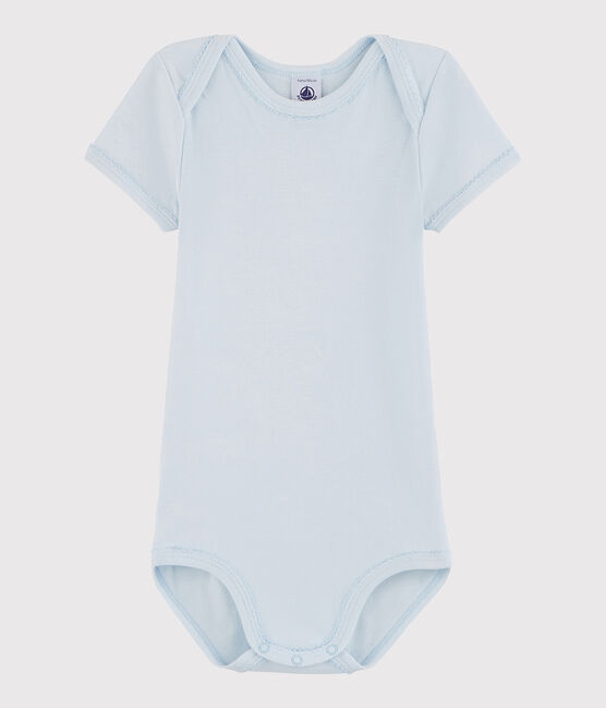 Baby Girls' Short-Sleeved Bodysuit Fraicheur blue