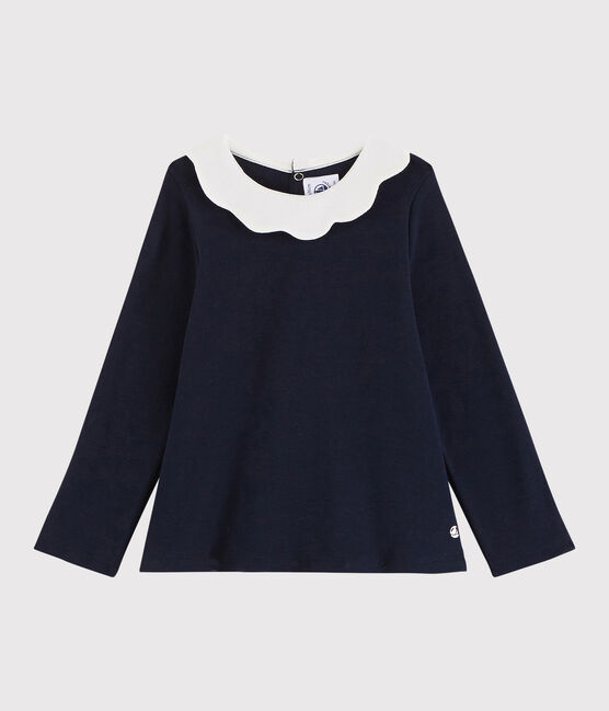 Baby girl's long-sleeved blouse Smoking blue
