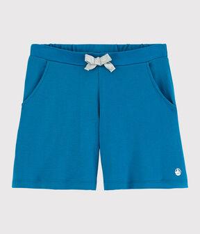 Girl's Cotton Shorts Mykonos blue