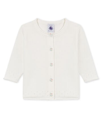Baby girls' 100% cotton cardigan