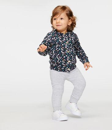 Baby Girls' Printed Tube Knit Cardigan Smoking blue / Multico white
