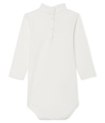 Unisex Babies' Long-Sleeved Roll-Neck Bodysuit Marshmallow white