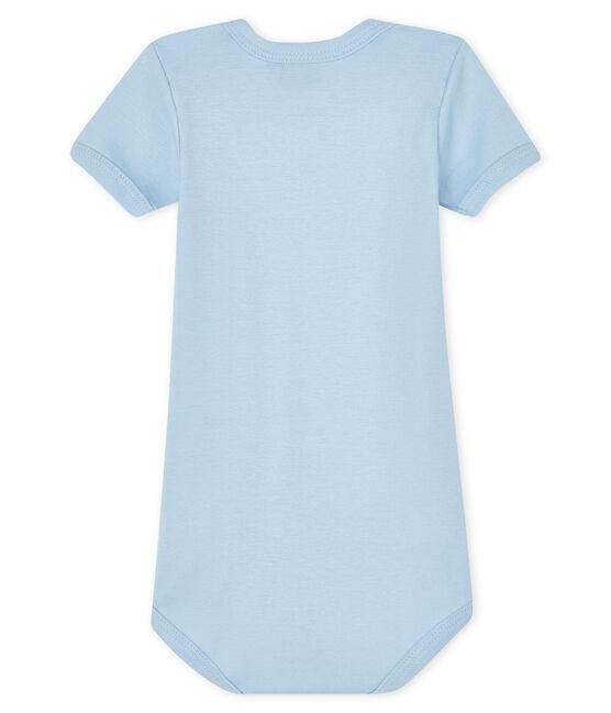 Baby boys-girls' long-sleeved bodysuit Jasmin blue