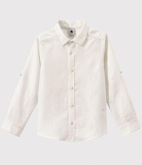 Boys' Poplin Shirt Ecume white