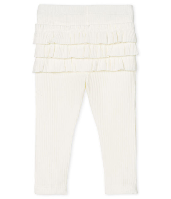 Baby Girls' Ruffled Leggings Marshmallow white