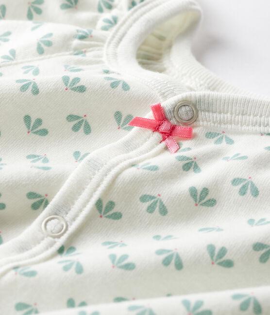Baby Girls' Rib Knit Playsuit Marshmallow white / Multico white
