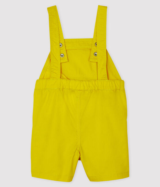 Baby Boys' Short Dungarees Gengibre yellow