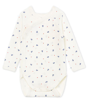 abf991002 Baby Boys' Long-Sleeved Newborn Bodysuit | Petit Bateau