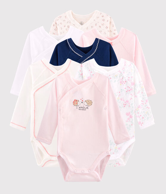 Newborn Baby Girls' Long-Sleeved Bodysuits - 7-Piece Surprise Set . set