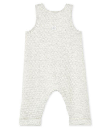Baby's quilted tube knit overalls Montelimar Chine grey