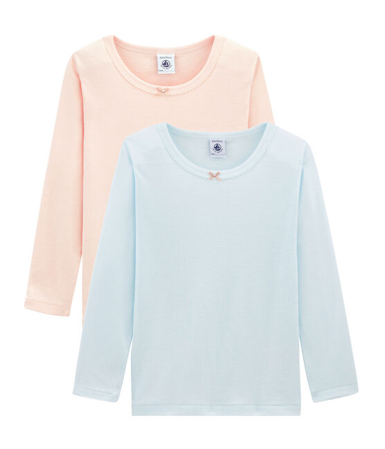 Girls' Long-sleeved T-shirt - Set of 2 . set