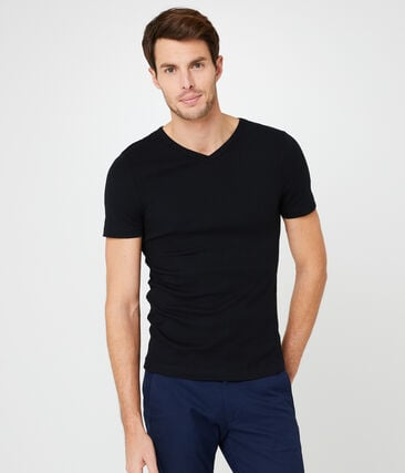 Men's short-sleeved v-neck t-shirt