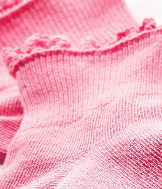 Baby Girls' Lace Socks Petal pink