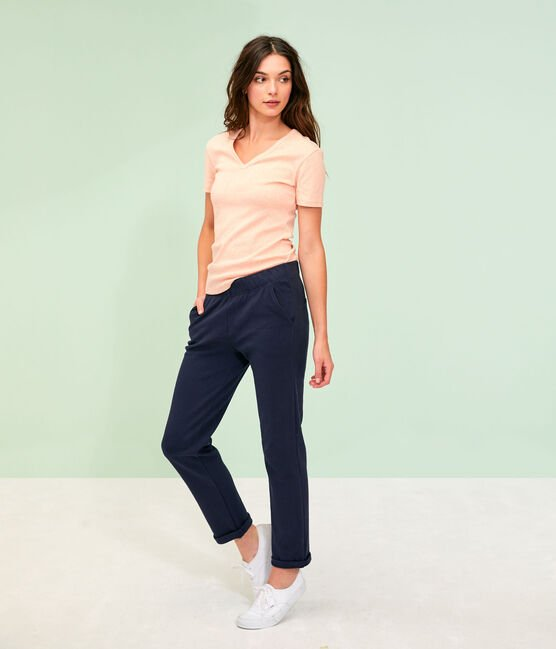 Women's navy blue trousers Smoking blue