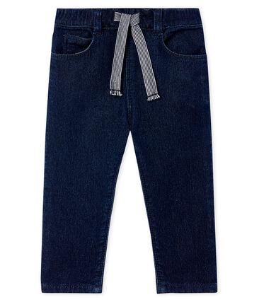 Unisex Babies' Denim Look Knit Trousers Jean blue