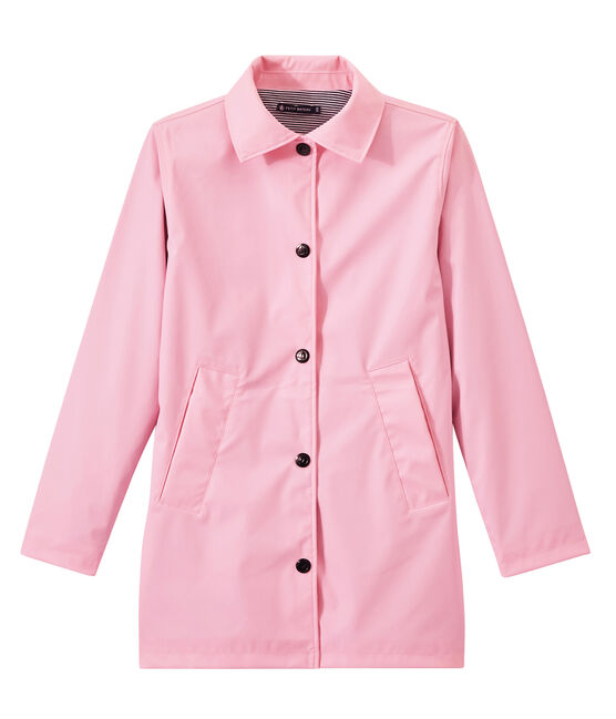 Women's overcoat-style waterproof raincoat Babylone pink