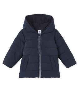 Baby Boys' Microfibre Down Jacket Smoking blue