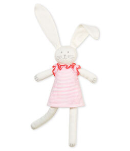 Rabbit in clothing comforter Vienne pink / Marshmallow white