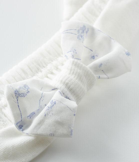 Baby Girls' Rib Knit Headband Marshmallow white / Multico white