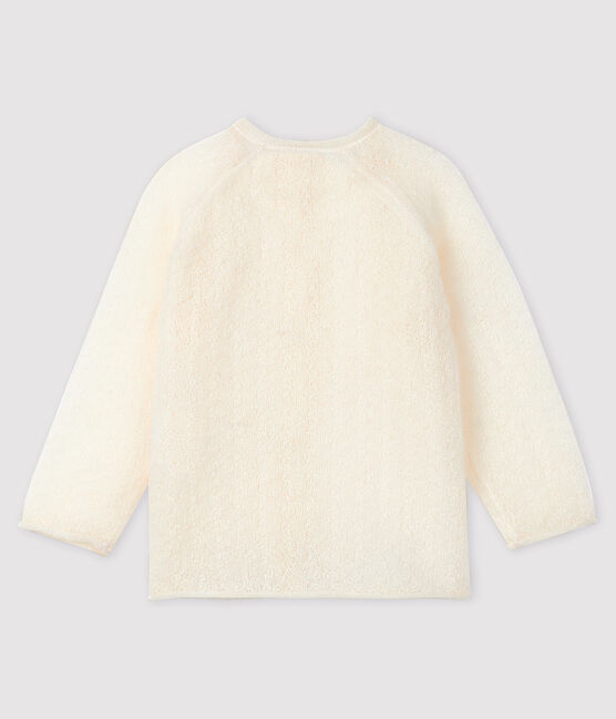 Baby girl's knitted cardigan Marshmallow white