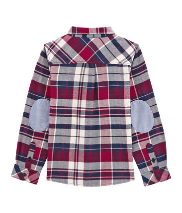 Boy's checked shirt in twill