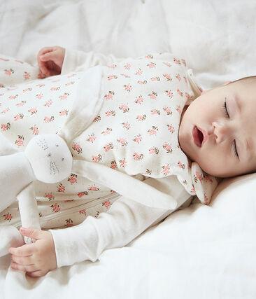 Babies' Velour Sleeping Bag Marshmallow white / Multico white