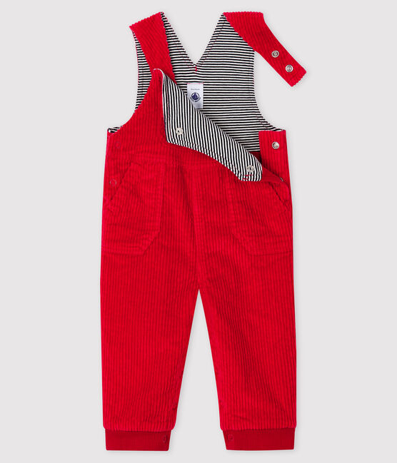 Baby boy's long dungarees Terkuit red