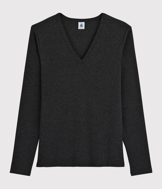 Women's iconic V-neck T-shirt City Chine grey