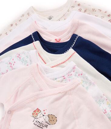 Newborn Baby Girls' Long-Sleeved Bodysuits - 7-Piece Surprise Set . set
