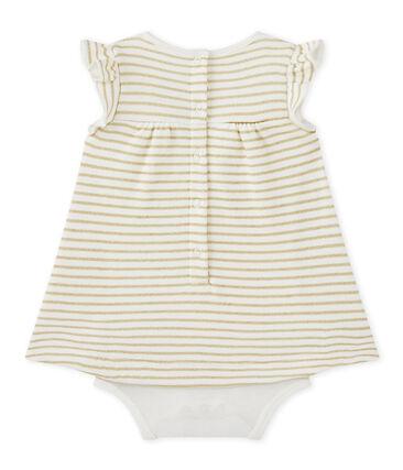 Baby girls' striped bodysuit dress