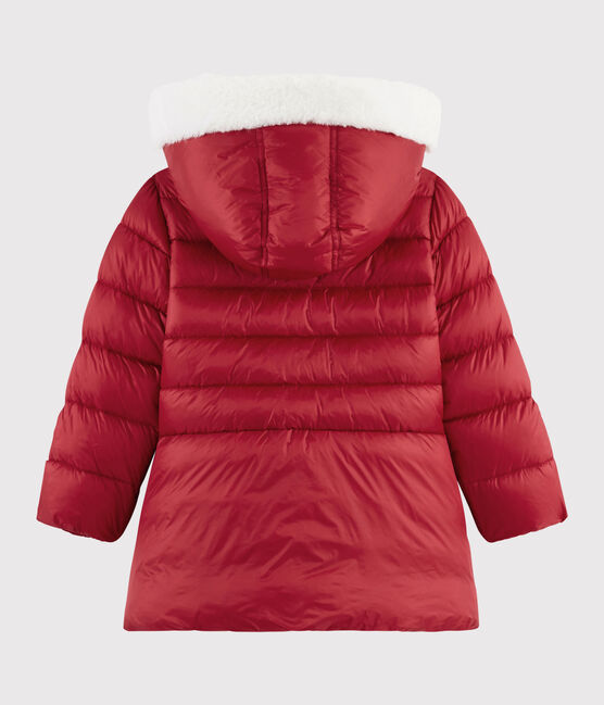 Girls' puffer jacket Terkuit red