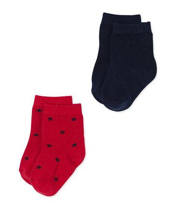 Set of baby boy's plain and star pattern socks . set