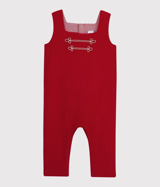 Baby boy's long playsuit Terkuit red