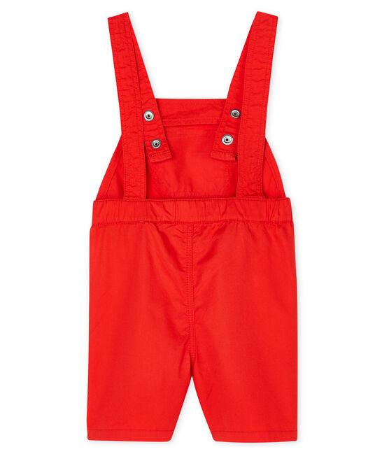 Baby Boys' Short Dungarees Spicy orange