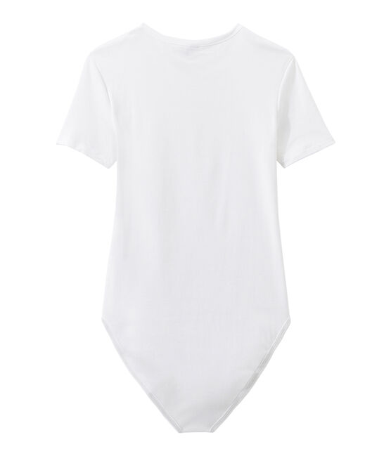 Women's striped te-shirt Ecume white
